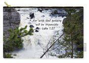 Luke 1 37  Carry-all Pouch