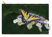 Luminous Butterfly On Lacecap Hydrangea Carry-all Pouch
