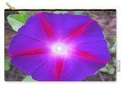 Luminous Morning Glory In Purple Shines On You Carry-all Pouch
