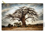 Luminous Sky And Tree Skeleton On The Prairie Carry-all Pouch