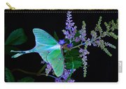 Luna Moth Astilby Flower Black Carry-all Pouch