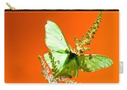 Luna Moth On Astilby Orange Back Ground Carry-all Pouch