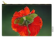Luna Moth Orange Poppy Green Bg Carry-all Pouch