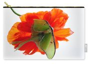 Luna Moth Poppy High Key Carry-all Pouch