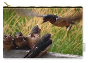 Lunch Is Served To The Fourth Baby Barn Swallow Carry-all Pouch