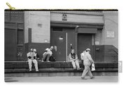 Lunch Time In Black And White Carry-all Pouch