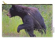 Lunging Black Bear Near Road In Grand Teton National Park-wyoming   Carry-all Pouch
