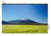 Lush Green Meadow And Mount Bachelor Carry-all Pouch
