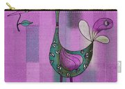 Lutgarde's Bird - 061109106-purple Carry-all Pouch