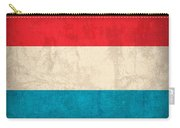 Luxembourg Flag Vintage Distressed Finish Carry-all Pouch