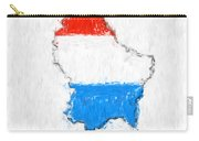 Luxembourg Painted Flag Map Carry-all Pouch
