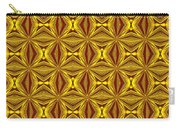 Luxury Red And Gold Christmas Kaleidoscope Carry-all Pouch