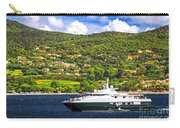 Luxury Yacht At The Coast Of French Riviera Carry-all Pouch