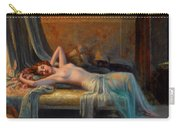 Lying Nude In A Bed Of Roses Carry-all Pouch by Delphin Enjolras