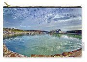 Lyme Regis Harbour -- Painterly Carry-all Pouch