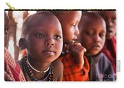 Maasai Children In School In Tanzania Carry-all Pouch