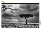 Maasai Mara In Black And White Carry-all Pouch