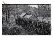 Mabry Mill Water Shute In Black And White Carry-all Pouch