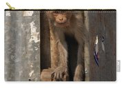 Macaque Peeking Out Carry-all Pouch