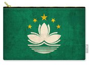 Macau Flag Vintage Distressed Finish Carry-all Pouch