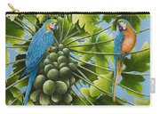 Macaw Parrots In Papaya Tree Carry-all Pouch