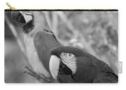 Macaws Of Color B W 14 Carry-all Pouch