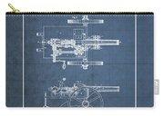 Machine Gun - Automatic Cannon By C.e. Barnes - Vintage Patent Blueprint Carry-all Pouch