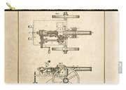 Machine Gun - Automatic Cannon By C.e. Barnes - Vintage Patent Document Carry-all Pouch