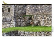 Machu Picchu - Grazing Lamas Carry-all Pouch