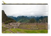 Machu Picchu Main Square And The Group Of The Three Doorways Carry-all Pouch
