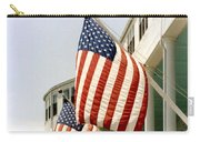 Mackinac Island Michigan - The Grand Hotel - American Flags Carry-all Pouch