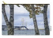 Mackinaw Bridge In Autumn By The Straits Of Mackinac Carry-all Pouch