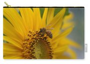 Macro Of Bee On Sunflower...   # Carry-all Pouch