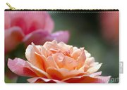 Macro Orange And Pink Floribunda Rose Carry-all Pouch