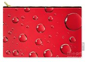 Macro Water Drop On Red Carry-all Pouch