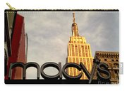 Macy's With Empire State Building - Famous Buildings And Landmarks Of New York City Carry-all Pouch