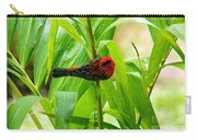 Madagascar Fody On Palm Tree Carry-all Pouch