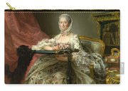 Madame De Pompadour At Her Tambour Frame Carry-all Pouch