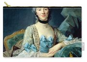 Madame De Sorquainville, 1749 Oil On Canvas Carry-all Pouch