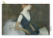 Madame Marthe Letellier Sitting On A Sofa Carry-all Pouch by Paul Cesar Helleu