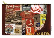 Made In Ohio Products Vintage Map On Wood Carry-all Pouch