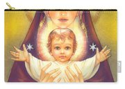 Madonna And Baby Jesus Carry-all Pouch by Zorina Baldescu