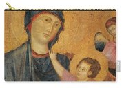 Madonna And Child Enthroned  Carry-all Pouch by Cimabue
