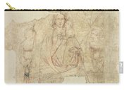 Madonna And Child Enthroned, Drawing For A Fresco Sinopia On Paper Carry-all Pouch