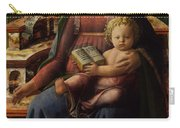 Madonna And Child Enthroned With Two Angels Carry-all Pouch