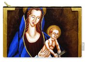 Madonna And Child Carry-all Pouch by Genevieve Esson