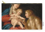 Madonna And Child With Mary Magdalene  Carry-all Pouch