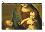 Madonna And Child With The Infant Saint John Carry-all Pouch by Antonio Allegri Correggio