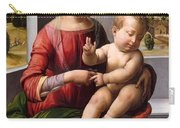 Madonna And Child With The Young Saint John The Baptist Carry-all Pouch