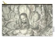 Madonna On Black And White Screen Carry-all Pouch